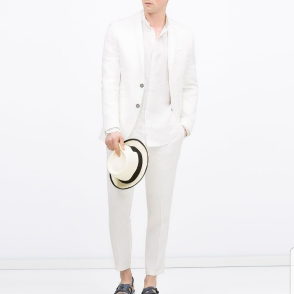 60% discount custom best quality for Zara Mens White Linen Suit NWT NWT